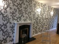 £75 PER FEATURE WALL. WALLPAPERING,PAINTER AND DECORATOR.100% QUALITY ASSURED.NO UPFRONT COST