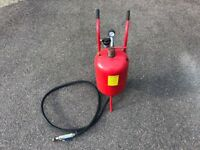 Sealey sand or soda blaster / blast pot 37l, genuine soda converter included