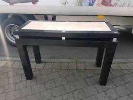 Black and cream marble effect table
