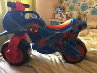 Spider-Man balance bike brand new