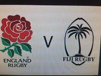 4 England vs Fiji tickets East lower