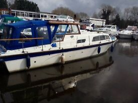 boat 32 ft seinor with twin 4108 perkins engines all equipment plus laege solar panel for sale