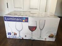 11 Boxes of 18pc Luminarc LA CAVE New Wine Glasses
