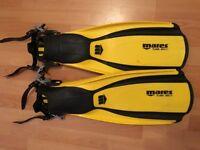 scuba/snorkel fins - 2 pairs - mares plana avanti - tusa imprex tri-ex -