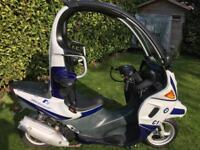 BMW C1 Moped Scooter. Rare with roof, seat belts, roll cage