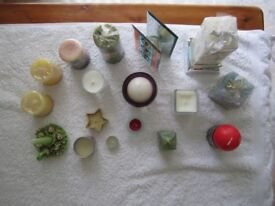 Assortment of Seventeen unused quality candles for sale at £15 all in excellent condition.