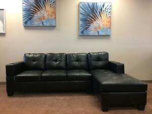 Sectional + FREE DELIVERY within Edmonton (Available in Black or Brown)