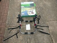 Low 3-bike carrier, Halfords, used but in good condition.