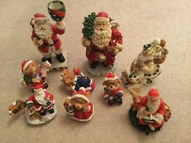 Selection of lovely pretty Christmas statue ornaments