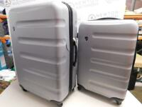 Heys Endurance 2 Piece Spinner Luggage Set Silver (slightly damage) Used