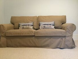 Beige sofa bed in good condition for sale - to collect