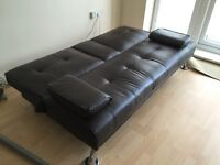 Modern Faux Leather 3 Seater Sofa Bed