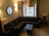 Ikea corner 5 seat sofa - Dark grey material - Great condition - Must go this week