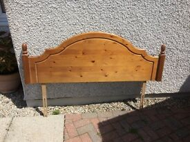 Pine headboard to fit king size double bed