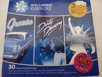 Karaoke CDG discs-GREESE,DIRTY DANCING & SATURDAY NIGHT FEVER