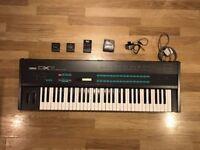 Yamaha DX7 Mk1 FM Synthesizer - with flight case and cartridges