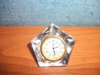 CRYSTAL GLASS MINIATURE CLOCK