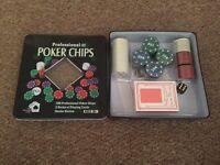 Poker chip set new