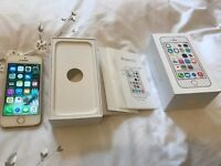 APPLE iPHONE 5S 16GB EE GOLD BOXED GOOD CONDITION