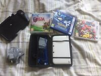 White Unboxed Nintendo 3DS XL for sale + 3 games, game pad extension and blue case