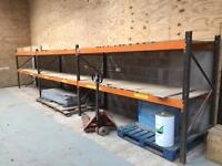 Heavy Duty Industrial Warehouse Pallet Racking With Wood Decking Sheet