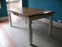 Pine top farmhouse dining table - shabby chic