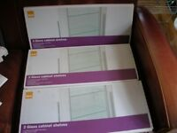 Clear Glass cupboard shelves x 6 for 600mm cabinet.