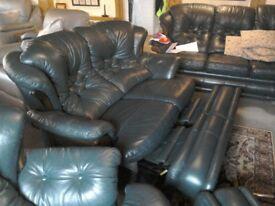 Fantastic quality high grade Italian leather Suite