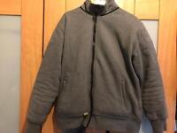 Grey Motorcycle Hooded Jacket