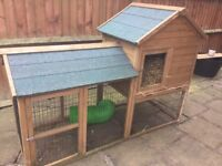 Rabbit hutch for sale two storey state of the art pent roof with water proof canvas cover