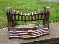 VINTAGE RETRO 50s/60s IRIDESCENT IRON FIRE PLACE GRATE & FRONT DRAWER WITH JOYCE MARK II