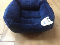 "Brand New with Tags, Small Dog Bed, ""Bounty"" brand, Dark Blue"