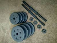 Home Gym Weight Plates Dumbell Set Kit Heavy 2.5Kg 10Kg