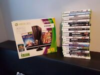 Xbox360 with kinect 28 games