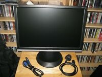 Viewsonic 22 Inch Widescreen HD LCD PC Computer Monitor Immaculate Condition £40 For Quick Sale