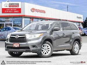 2016 Toyota Highlander LE Toyota Certified, One Owner, No Acc...