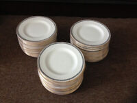 House clearance! 60 dessert plates (matching tea pot set I'm selling separately) in very good cond.