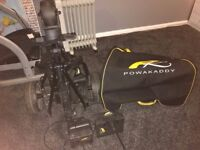 Powakaddy Golf Trolley with bag, charger and 18 hole battery