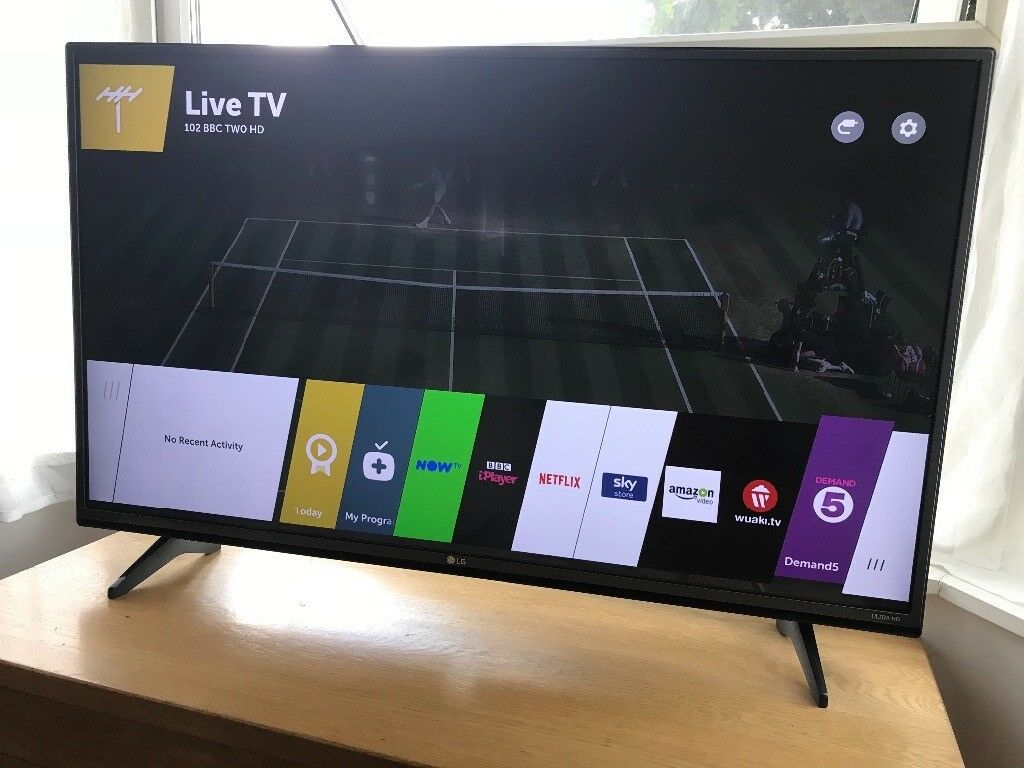 """97b5b71037b LG 43"""" 4K ultra hd smart led hdr tv. Excellent condition £260 NO OFFERS.  CAN DELIVER"""