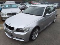 2008/08 BMW 330d M-SPORT 4-DR SALOON,AUTOMATIC,FULL BLACK LEATHER,STUNNING LOOKS+PERFORMANCE