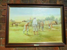 Douglas E West Framed Print - NOW THE 19TH HOLE - Golf interest