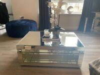 Venetian mirrored coffee table for sale