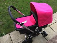 Bugaboo Cameleon3 in hot pink with aluminium chassis for sale