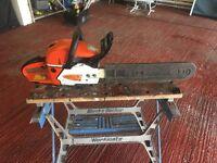 Titan petrol 19 inch blade Chain Saw