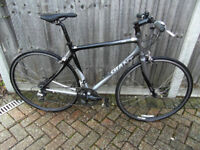 Giant FCR 50cm Medium Hybrid/Flatbar Racer New Chain/Saddle/Cables/Brake Blocks Stunning Condition