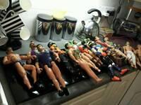 15 Action men/ some super heroes..plus xtra clothes