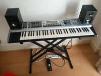 Fantom Xa Keyboard for sale. Inludes keyboard stand, sustain/switch pedal, and Alesis speakers.