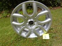 BMW Mini Cooper Flame Spoke 17 Inch Alloy Wheel P No.6775685