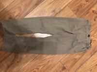 Boys khaki slim fit trousers 6-7yrs