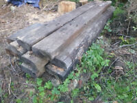 11 X Railway Sleepers 2.6m long Full Size - CAN DELIVER LOCALLY